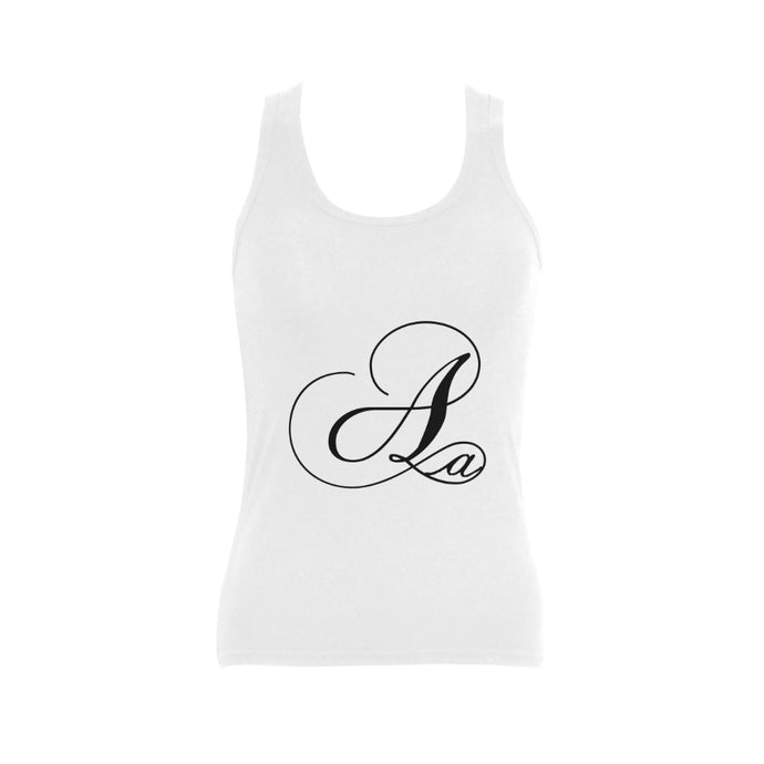 Alphabet A   Women's Shoulder-Free Tank Top (Model T35)