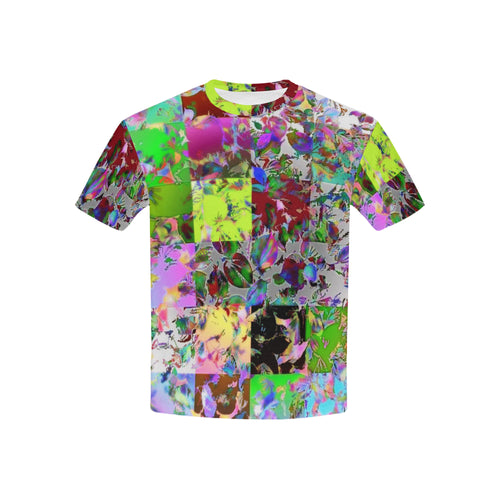 Foliage Patchwork #12   All Over Print Tshirt for Kid (USA Size) (Model T40)