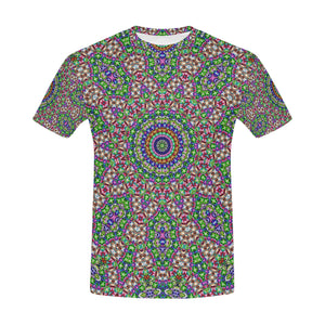 Batik Maharani #2A   All Over Print T-Shirt for Men (USA Size) (Model T40)