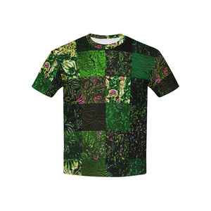 Foliage Patchwork #1   All Over Print Tshirt for Kid (USA Size) (Model T40)