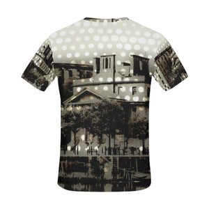 UK-Albert-Dock polka   All Over Print T-Shirt for Men (USA Size) (Model T40)