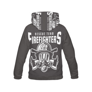 Rescue Team Firefighters Hoodie for Men backview