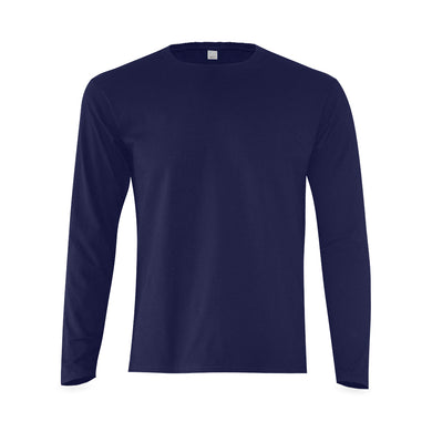 This My Color  Men's Navy Blue Long Sleeve Tshirt (Model T08)