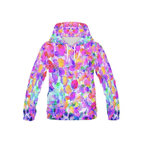 Foliage #7 Hoodie for Kid | Pink