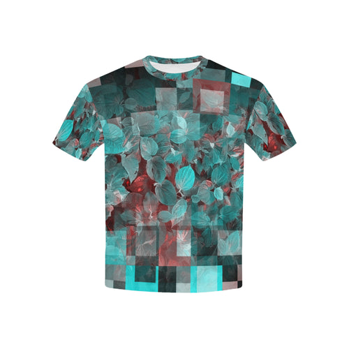 Foliage Patchwork #10   All Over Print Tshirt for Kid (USA Size) (Model T40)