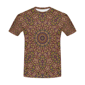 Batik Maharani #2B   All Over Print T-Shirt for Men (USA Size) (Model T40)