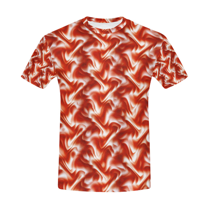 Red Silk Rumple   All Over Print T-Shirt for Men (USA Size) (Model T40)