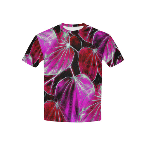 Foliage #9 All Over Print T-Shirt for Boys and Girls | Pink