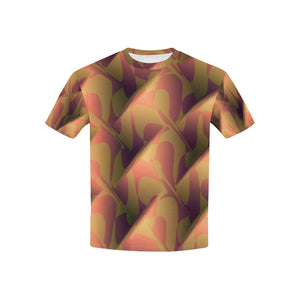 Orange Cubik   All Over Print Tshirt for Kid (USA Size) (Model T40)