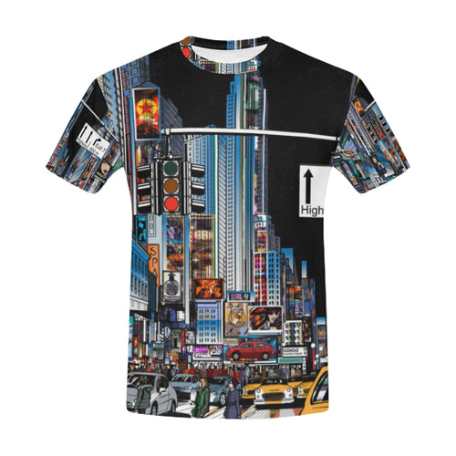 A Street in New York City at Night T-Shirt for Men