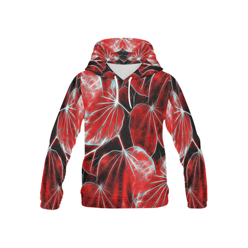 Foliage #9 Hoodie for Kid | Red Tone