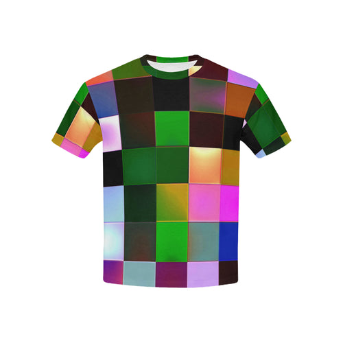 Checkmate All Over Print T-Shirt for for Boys and Girls | Dark front view