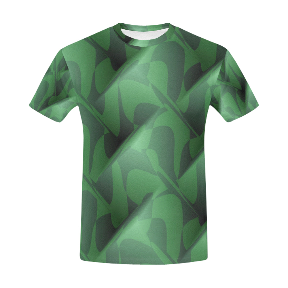 Subtle Green Cubik   All Over Print T-Shirt for Men (USA Size) (Model T40)