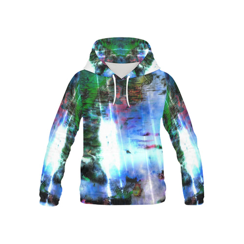Watercolor Fall All Over Print Hoodie for Kid