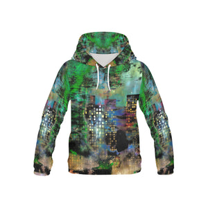 Urban Watercolor All Over Print Hoodie for Kid