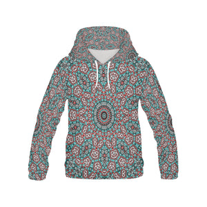 Batik Maharani #2A  All Over Print Hoodie for Women (USA Size) (Model H13)