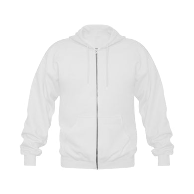 This My Color White Gildan Full Zip Hooded Sweatshirt (Model H02)