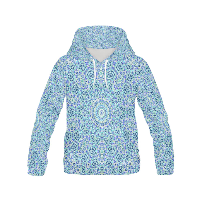 Batik Maharani #2B   All Over Print Hoodie for Women (USA Size) (Model H13)