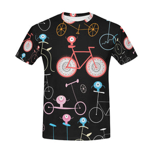 Funny Retro Bicycle T-Shirt for Men