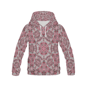 Batik Maharani #5A   All Over Print Hoodie for Women (USA Size) (Model H13)