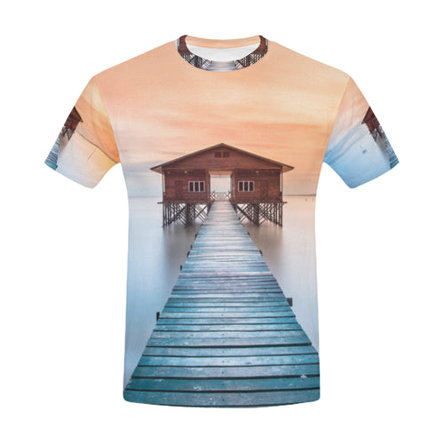 Wood Shack in Nagalang Labuan, Philippines T-Shirt for Men