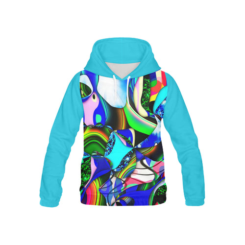 Mindworks Collage #11   All Over Print Hoodie for Kid (USA Size) (Model H13)