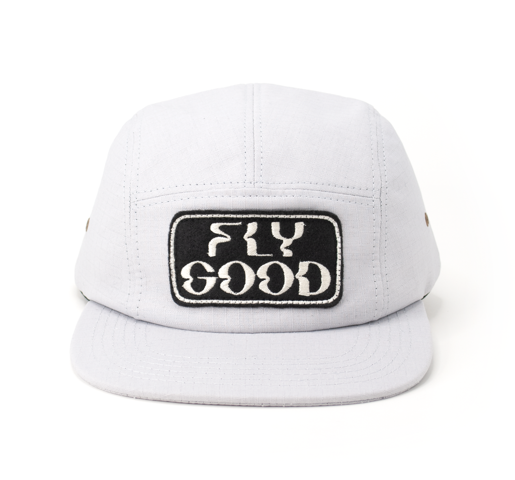 Fly Good Five Panel - Light Grey