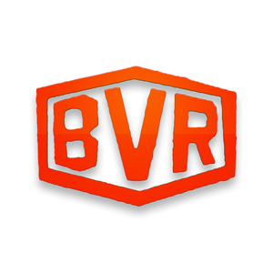 Large BVR Stamp Decal - Orange Red