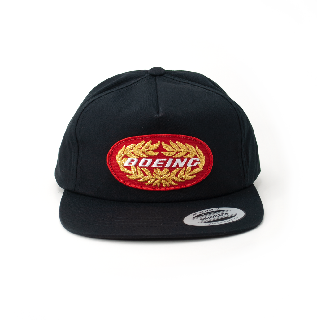 Vintage Boeing Black Retro Trucker
