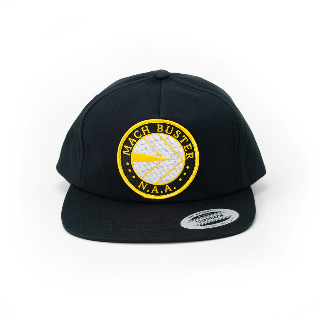Mach Buster Black Retro Trucker