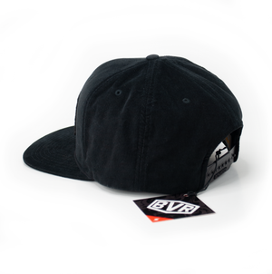 Stamp Black Corduroy Cap