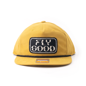 Fly Good Camp Hat - Yellow