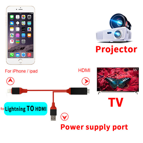 Lighting HDMI Adapter Cable For IOS & Android