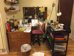 First 'Loyalsmith' Studio...a corner in the basement of my 2 bdrm apartment 2016-2020