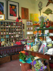 Interior of JayWalk, a retail store in Seattle carrying the work of over 30 local artists and craftspeople and a lot of other stuff
