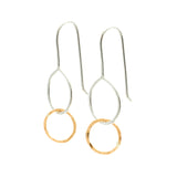Mini Moon Drops: Sterling Silver & 14/20 Goldfill Earrings