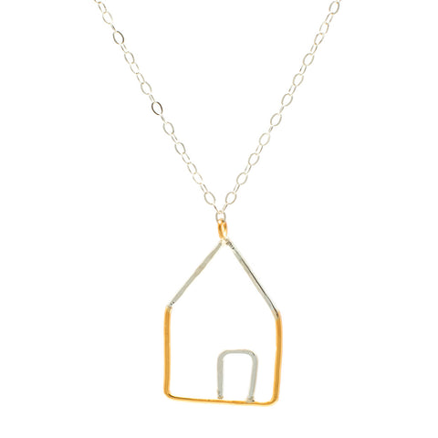 House: Sterling Silver and 14/20 Goldfill Necklace