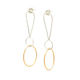 Exclamations, Large: Sterling Silver & 14/20 Goldfill Earrings
