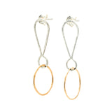 Exclamations, Small: Sterling Silver & 14/20 Goldfill Earrings