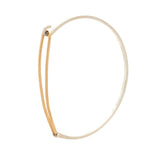 Barrette Bangle: Sterling Silver with 14/20 Goldfill Catch