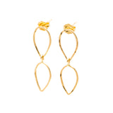 Leafy: 14K Gold Vermeil Earrings