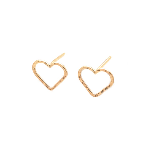 Love: 14K Vermeil Heart Earrings