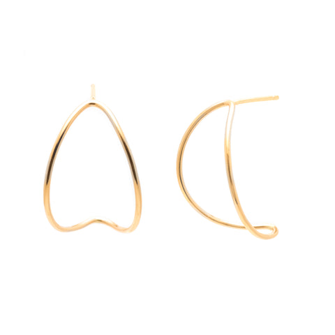 Wedges, Large: 14/20 Goldfill Earrings