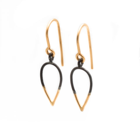Stingers: Small size, Oxidized Sterling Silver & 14/20 Goldfill Earrings