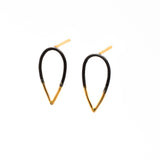 Stingers: Small Post Earrings, Oxidized Sterling Silver & 14/20 Gold-fill