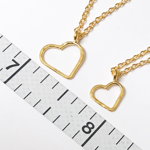 I Heart You: Vermeil Pendant ~ Necklace
