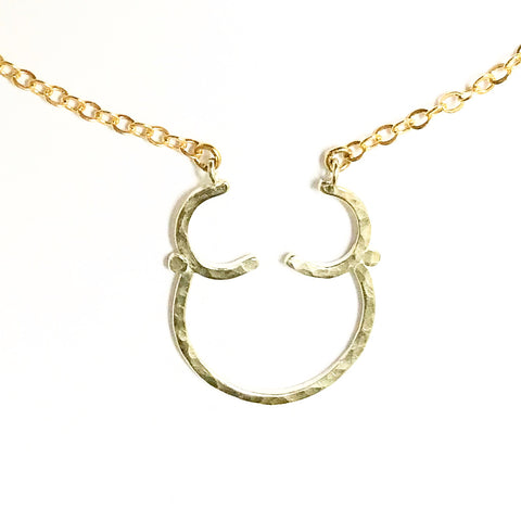 Goddess: Necklace with Sterling Silver Pendant 14/20 Goldfill Chain
