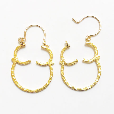 Goddess: Vermeil Earrings with 14/20 Goldfilled Earwire