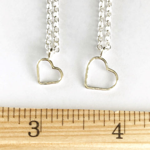 I Heart You: Sterling Silver Heart Necklace
