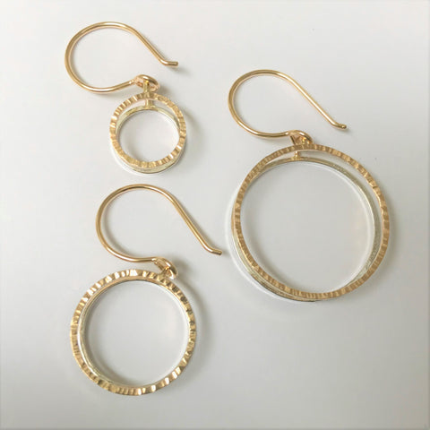 Business Circles: 14/20 Goldfill and Sterling Silver Earrings